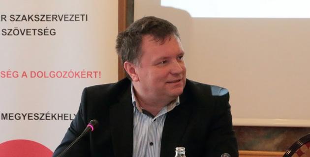 Kordás László, a Magyar Szakszervezeti Szövetség (MaSzSz) elnöke