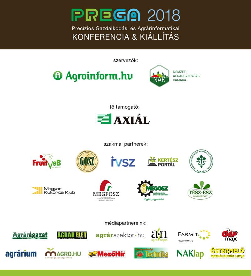 PREGA 2018 - Támogatók és partnerekű