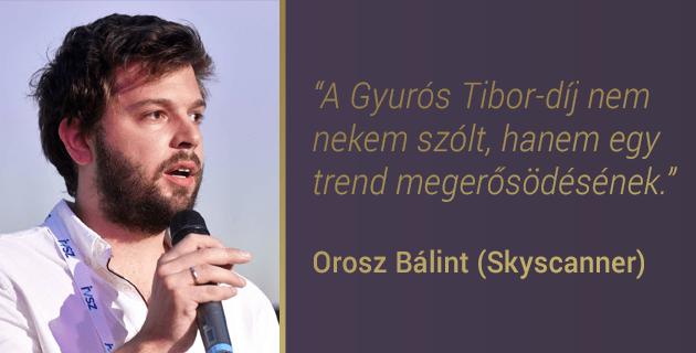 """Orosz Bálint: """"A Gyurós Tibor-díj nem nekem szólt, hanem egy trend megerősödésének."""""""