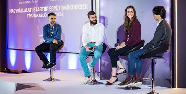 Biás Csongor (Millenáris Startup Campus), Anton Schilling (Pioneers), Mary Collins (MKB Fintechlab), Marvin Liao (500 Startups)