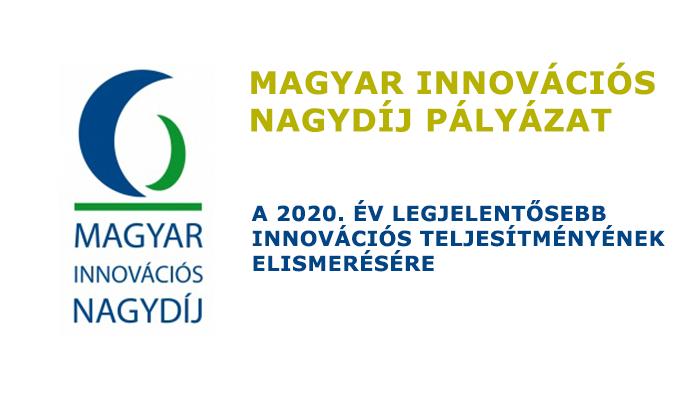 Magyar Innovációs Nagydíj pályázat 2020