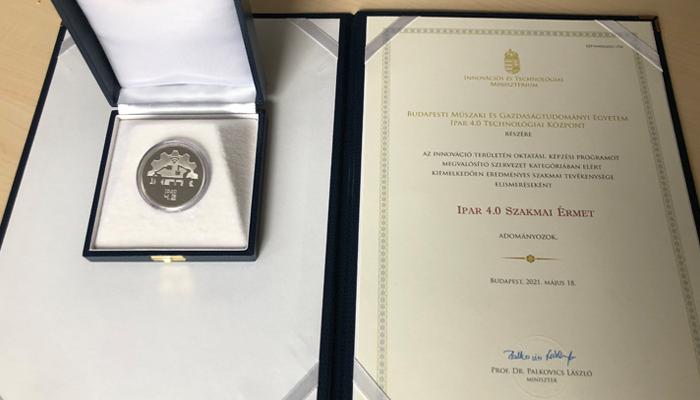 Ipar 4.0 kitüntetést kapott a BME Technológiai Központja
