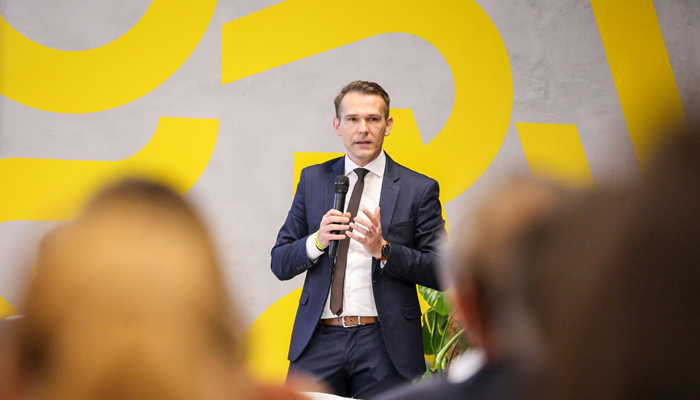 Gulyás Tibor,azInnovációs ésTechnológiaiMinisztériuminnovációért felelős helyettes államtitkára